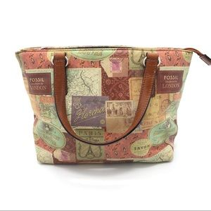 Fossil European travels small satchel purse